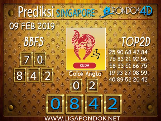 Prediksi Togel SINGAPORE PONDOK4D 09 FEBRUARI 2019