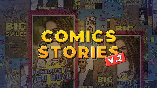 Comics Instagram Stories v.2 30357582 - Project for After Effects (Videohive)