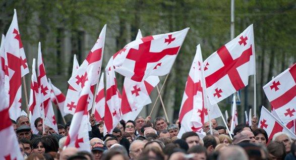 Тысячи человек вышли на акцию протеста в Тбилиси