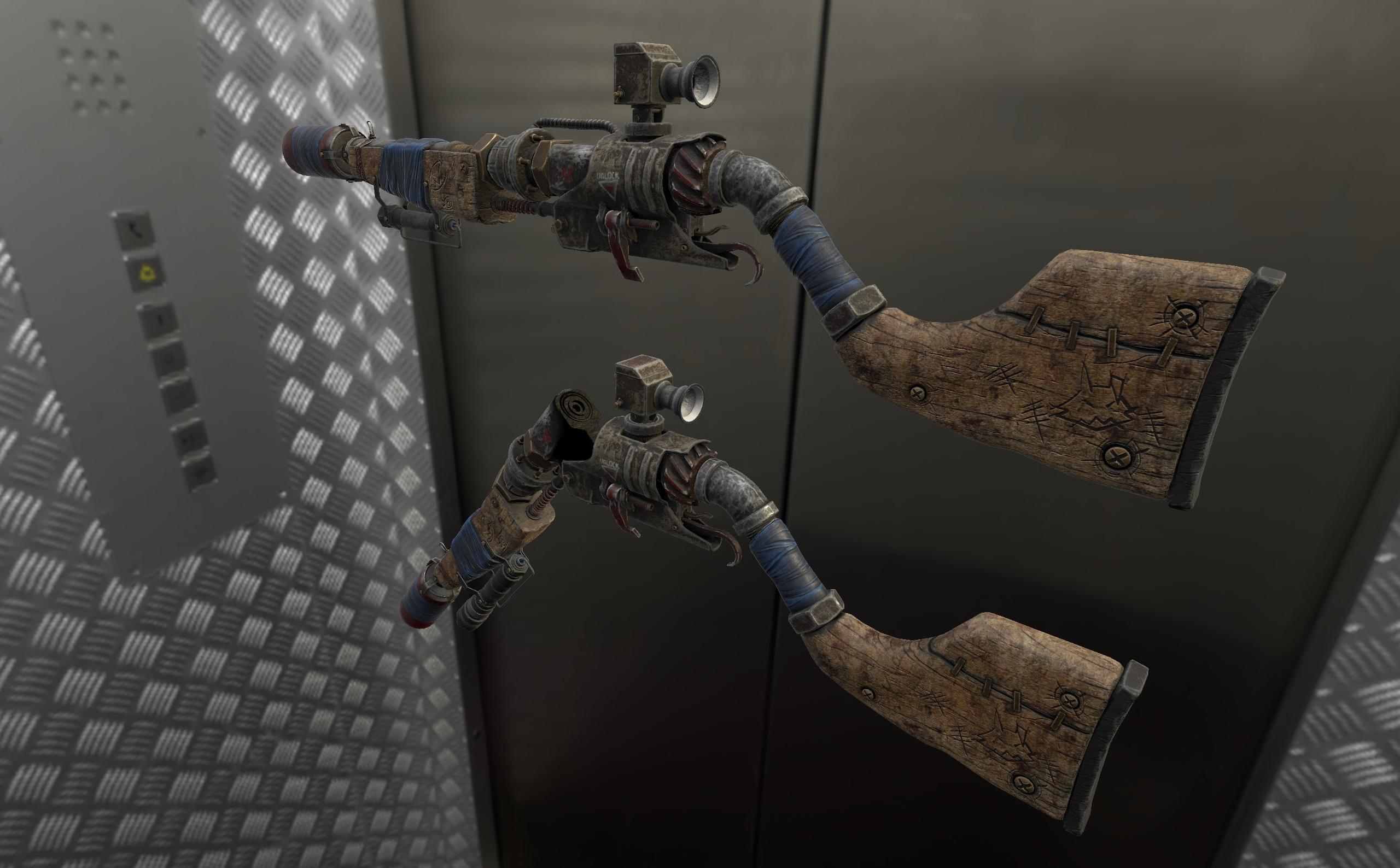 Разработчики 7DtD показали трубный дробовик, представитель примитивного оружия