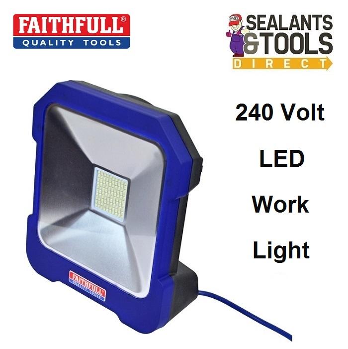 Faithfull SMD LED Task Work Light 240 Volt FPPSLTL20