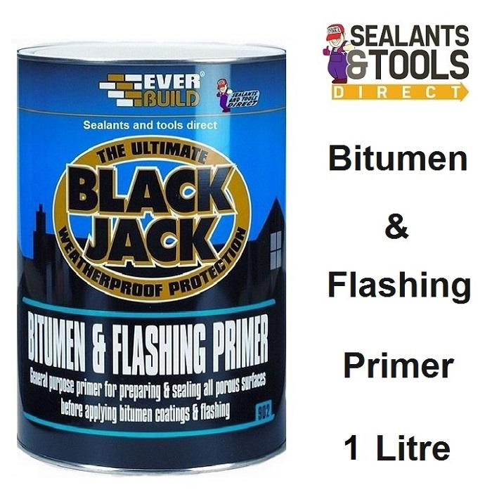 Everbuild 902 Black Jack Bitumen & Flashing Primer 1 litre 90201