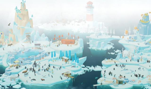 Penguin Isle Game Membangun Habitat Penguin