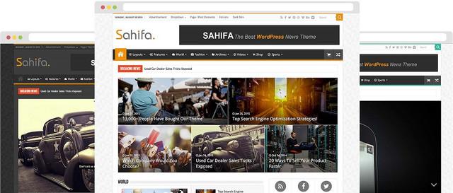 Sahifa WordPress Theme  Latest Version - Responsive WordPress News / Magazine / Blog Theme