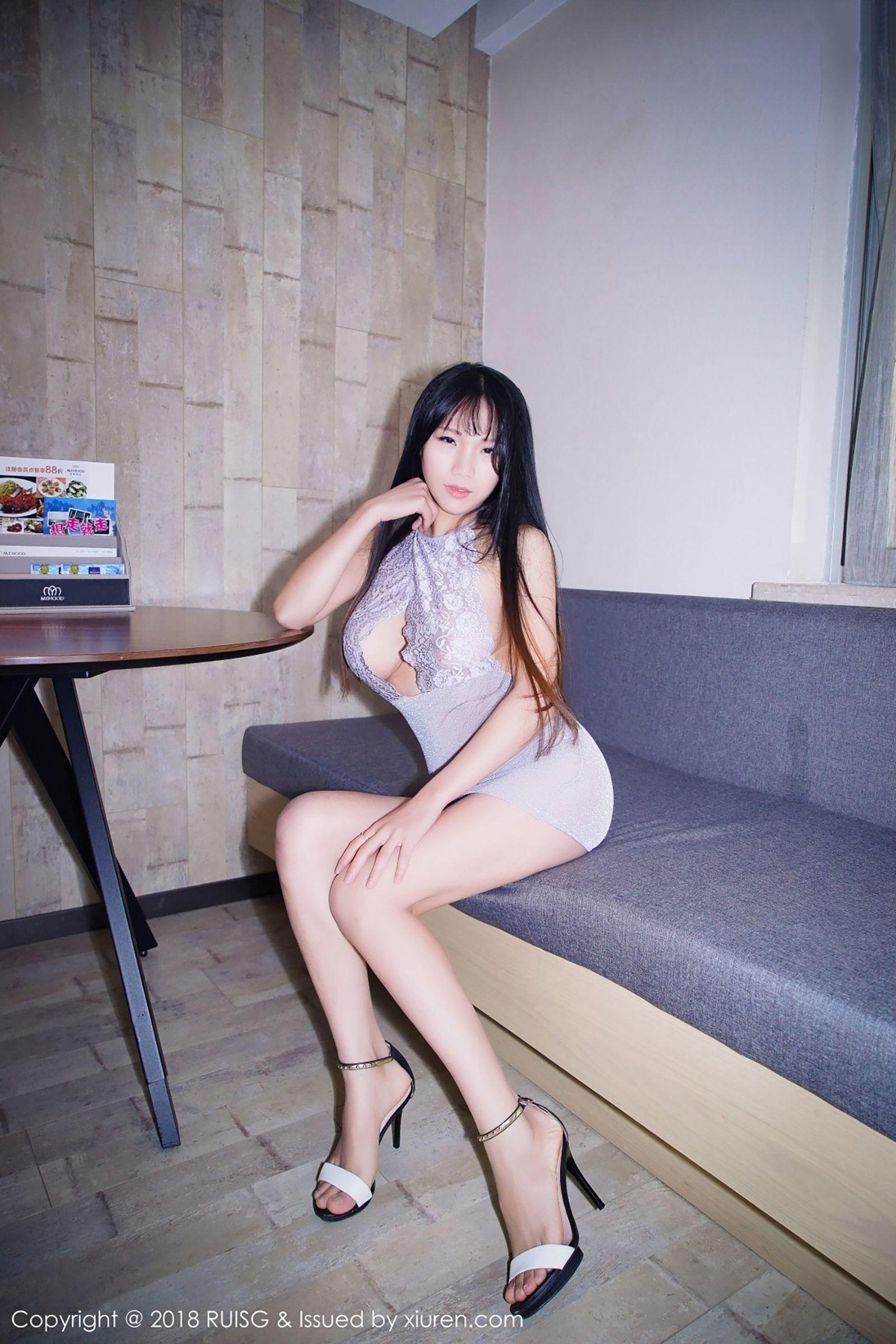 [RUISG瑞丝馆] Vol.056 李可可 - 蕾丝镂空半透内衣装扮