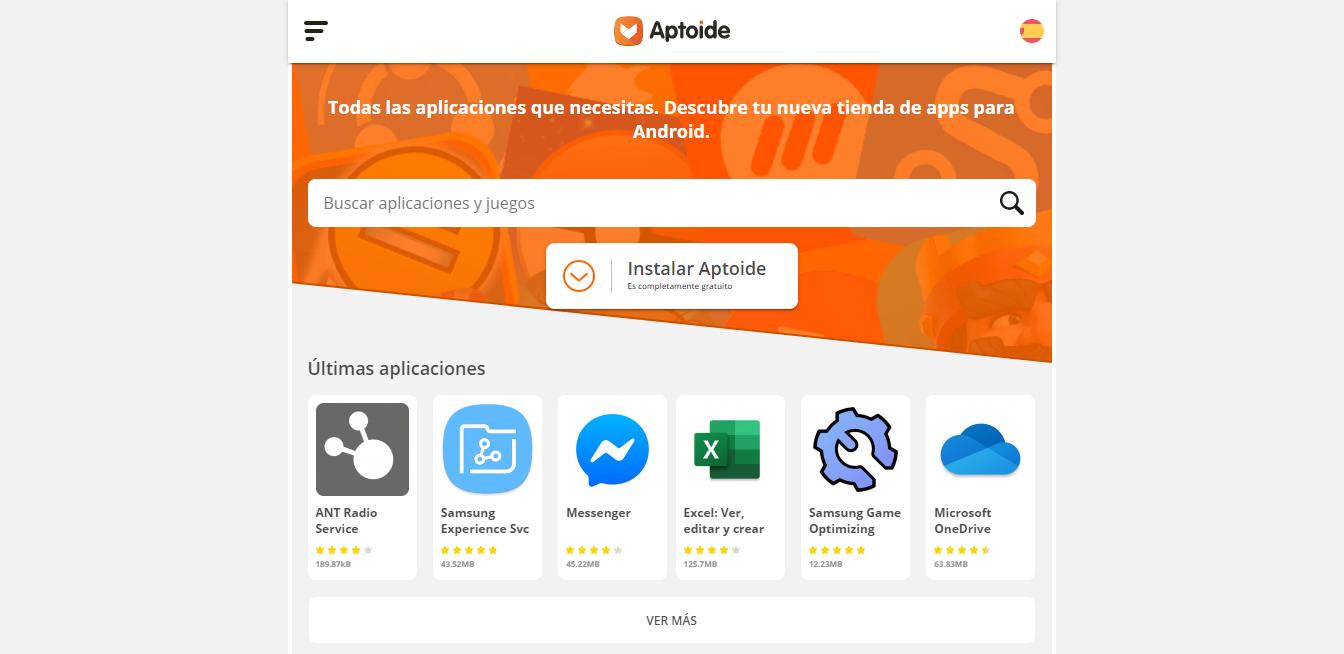 Aptoide online store to download apps.
