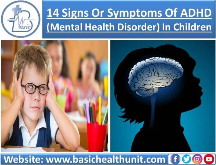 14 Signs Or Symptoms Of ADHD (Mental Health Disorder) In Children