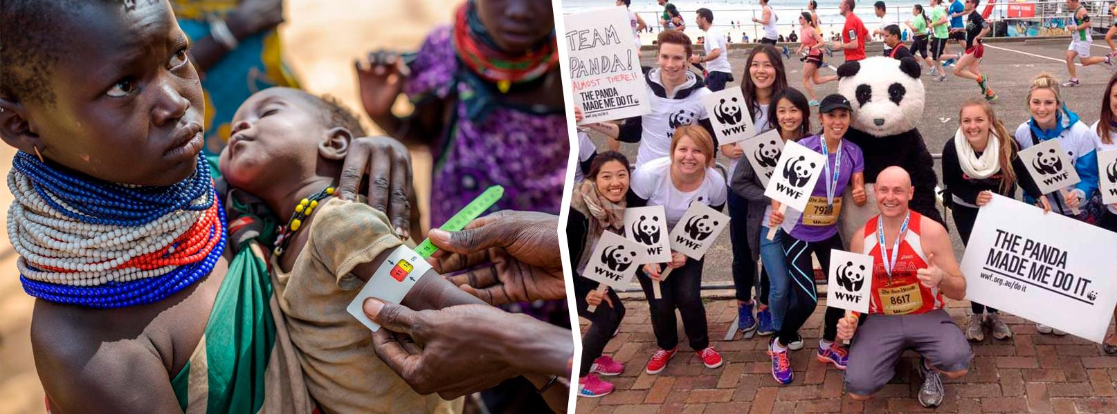 Дети Африка. Защита панды.