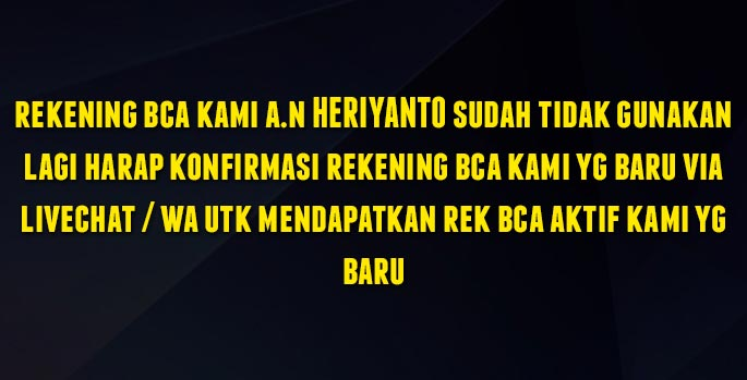 Rek BCA