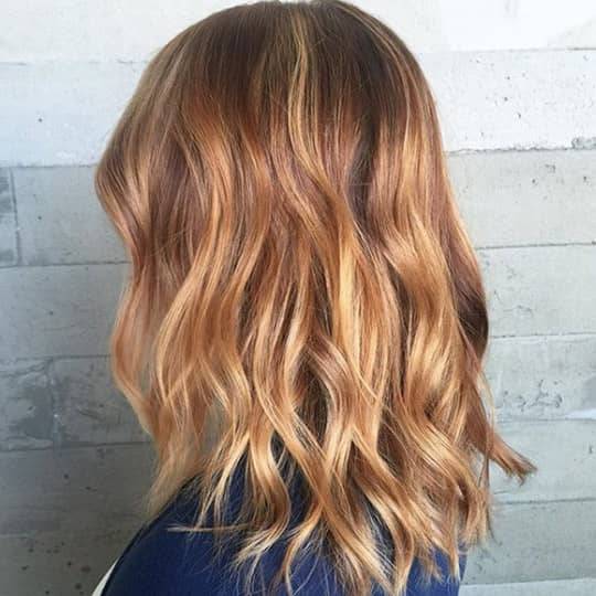 Strawberry Blonde with Chestnut Lowlights-strawberry-styled-hair