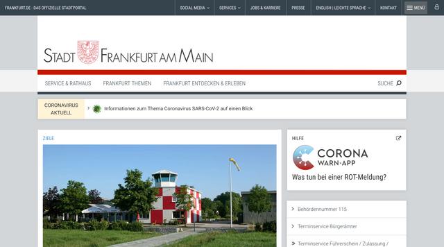 Webseite frankfurt.de