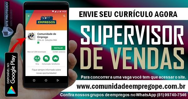 SUPERVISOR DE VENDAS PARA EMPRESA DE TELECOMUNICAÇÃO NA RMR