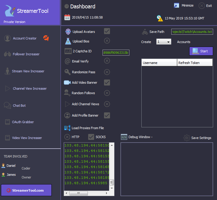 StreamerTool com -Twitch Bot - Prime Crack-View Bot-Channel View
