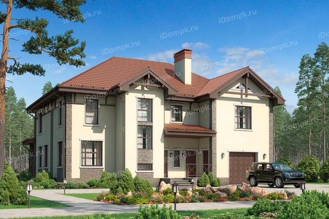 Двухэтажный дом с гаражом под одной крышей
