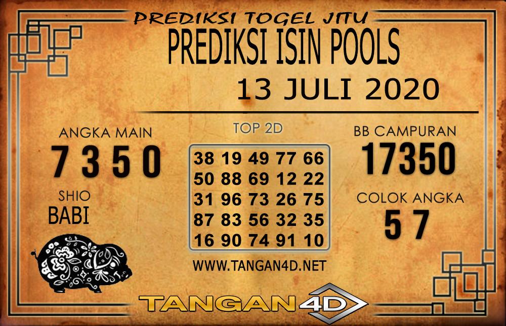 PREDIKSI TOGEL ISIN TANGAN4D 13 JULI 2020