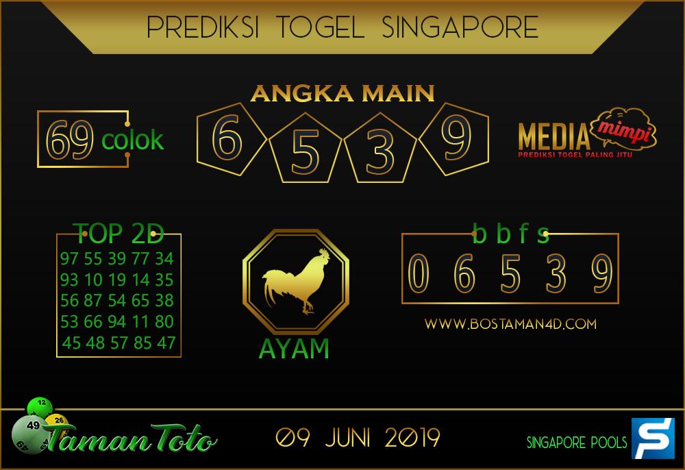 Prediksi Togel SINGAPORE TAMAN TOTO 09 JUNI 2019