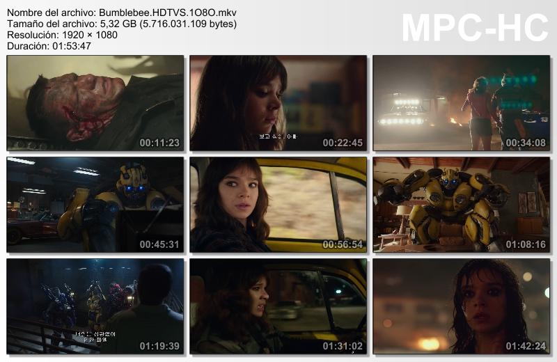 Bumblebee (2018)[HDTV-Screener 1080p][Castellano MiC][Acción][VS]