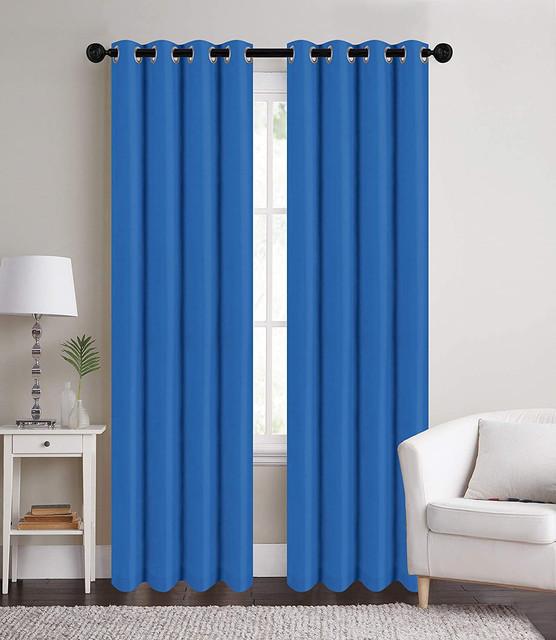 Edon Woven Room Darkening Black Out Thermal Grommet Gray Geometric Curtain