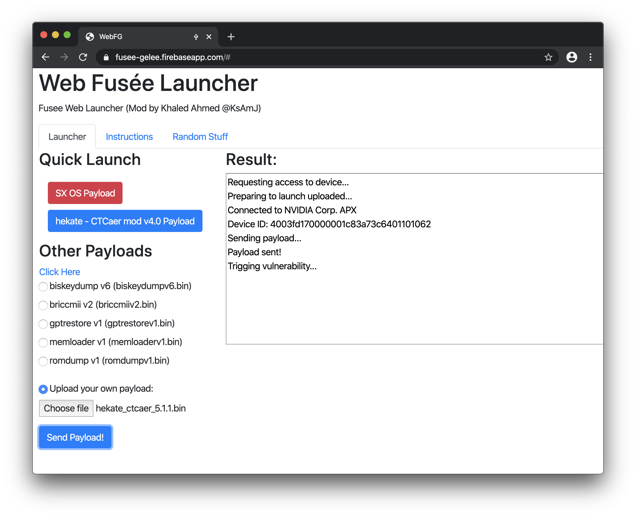 fusee web launcher