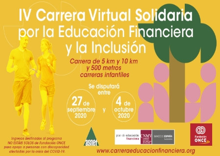 La IV Carrera Solidaria por la Educación Financiera y la Inclusión se celebrará de forma virtual para 2020