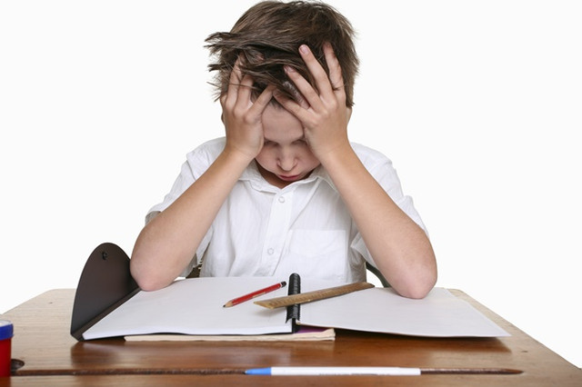 A-frustrated-upset-child-or-child-with-learning-difficulties