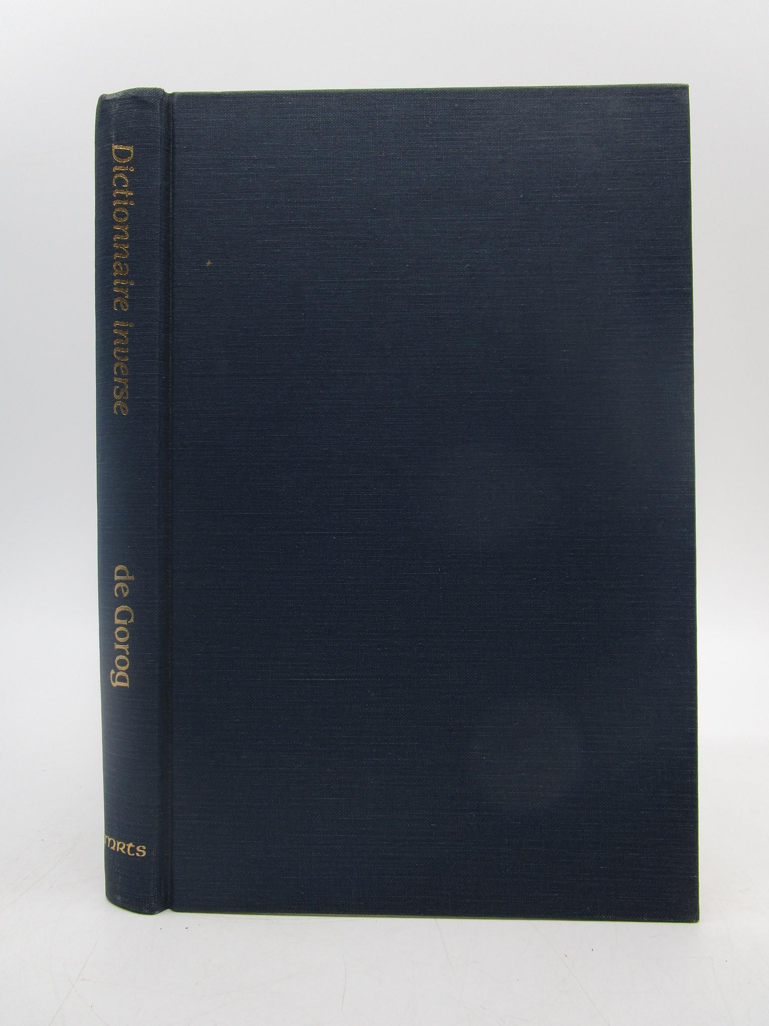 Image for Dictionnaire Inverse De L'Ancien Francais (Medieval & Renaissance texts & studies) (French Edition)
