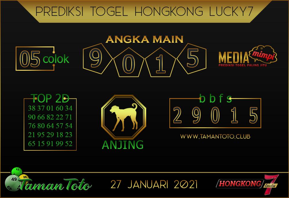Prediksi Togel HONGKONG LUCKY 7 TAMAN TOTO 27 JANUARI 2021