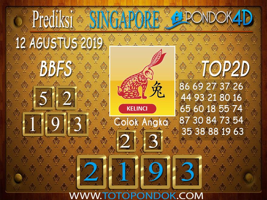 Prediksi Togel SINGAPORE PONDOK4D 12 AGUSTUS 2019