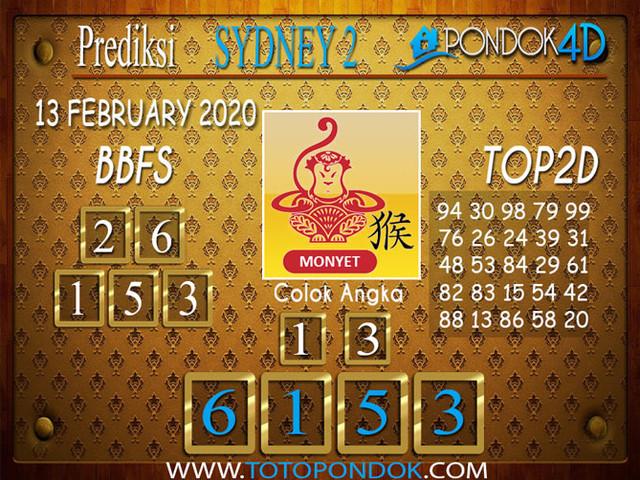 Prediksi Togel SYDNEY 2 PONDOK4D 13 FEBRUARY 2020