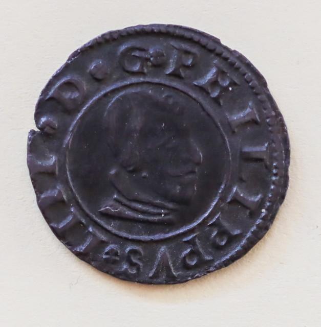16 maravedis de Felipe IV de Madrid, 1663. Fe1-1-de-1