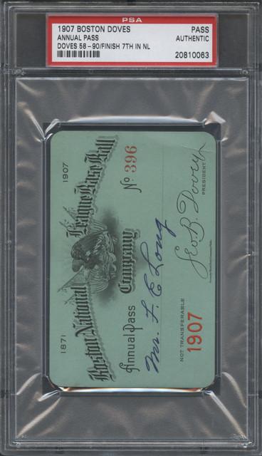 1907 Boston Doves Annual Pass F