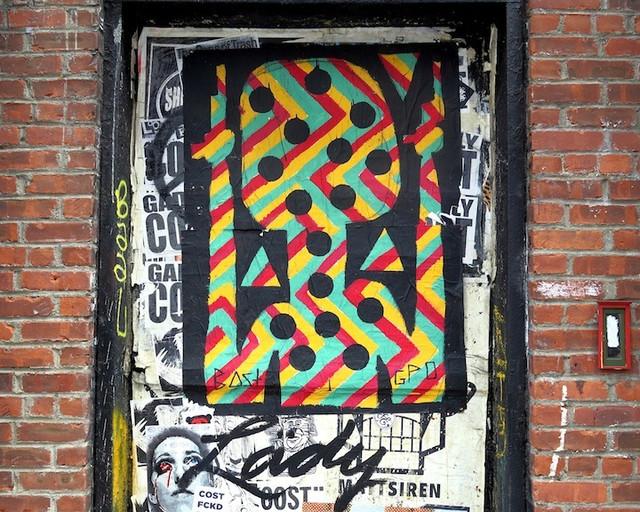 Bast street art in Manhattan