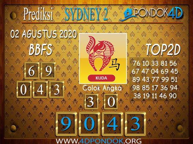 Prediksi Togel SYDNEY 2 PONDOK4D 02 AGUSTUS 2020
