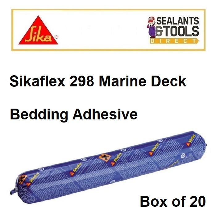 Sikaflex 298 Sika Marine Deck Bedding Adhesive 600ml Box of 20