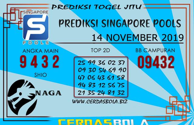 """Prediksi Togel """"SINGAPORE"""" CERDASBOLA 14 NOVEMBER 2019"""