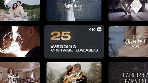 Wedding Vintage Badges 32935734 - Project for After Effects (Videohive)