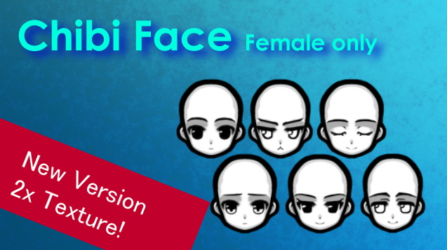 [NL] Chibi Face Male only / Чиби лицо [женское] (1.0 - 1.2)