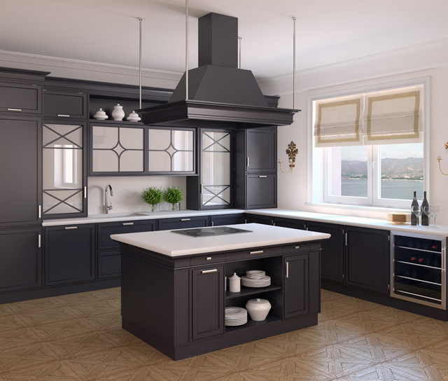 Interior-of-classic-black-kitchen-3d-render-Photo-behind-the-window-was-made-by-me-This-is-Gelendzhi
