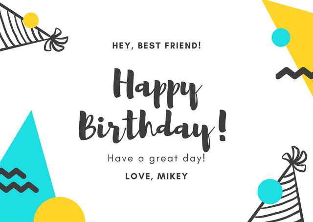 Yellow-Teal-Brother-in-Law-Birthday-Card