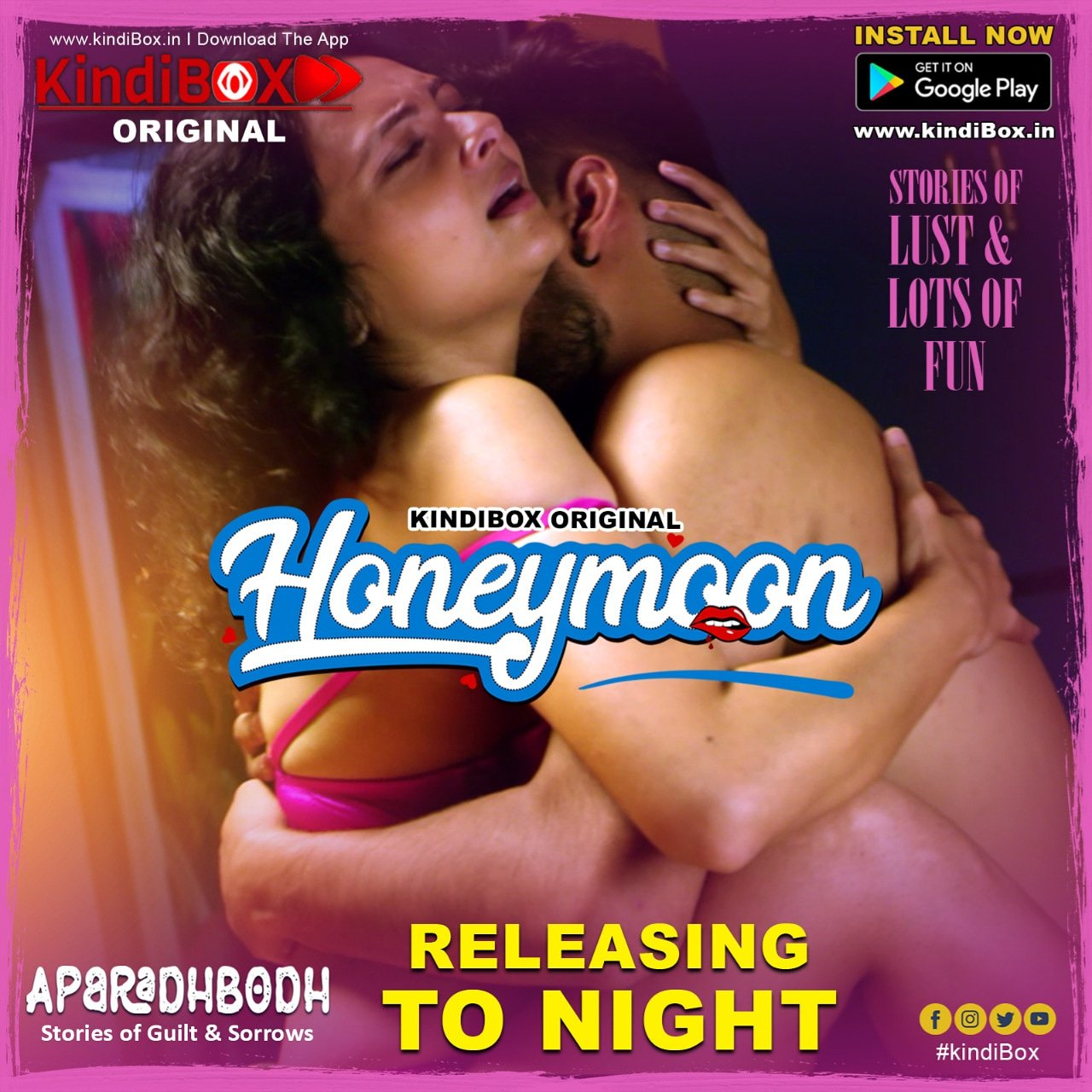 Honeymoon 2020 Hindi S01E01 Kindibox Original Web Series 720p HDRip 160MB Download