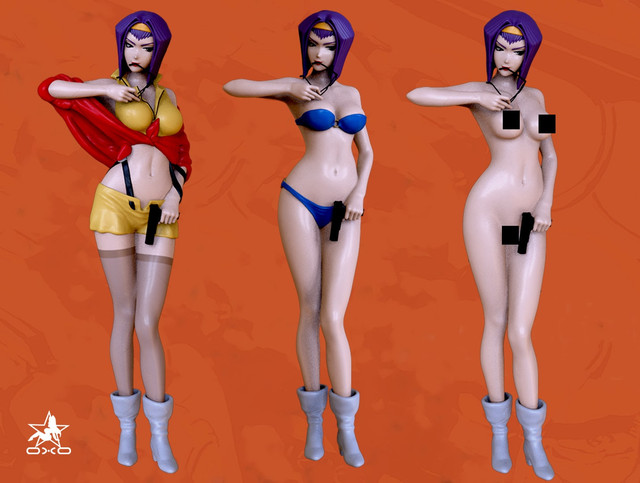 CowBoy Bebop Faye Valentine 3D print model - package 01