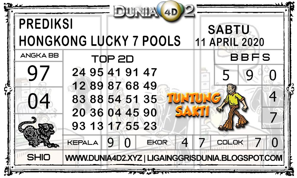 Prediksi Togel HONGKONG LUCKY7 DUNIA4D2 11 APRIL 2020