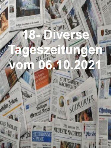 Cover: 18- Diverse Tageszeitungen vom 06  Oktober 2021