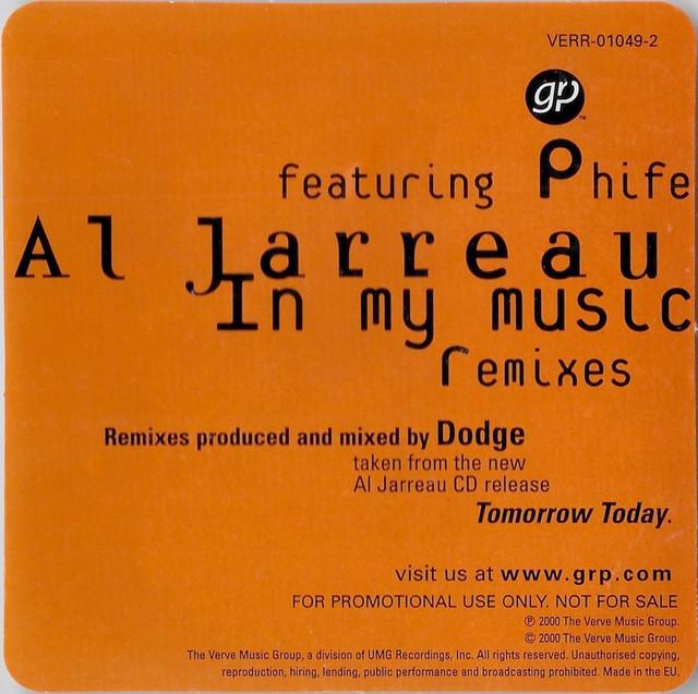 Al-Jarreau-In-My-Music-promo-Promo-sticker-Front