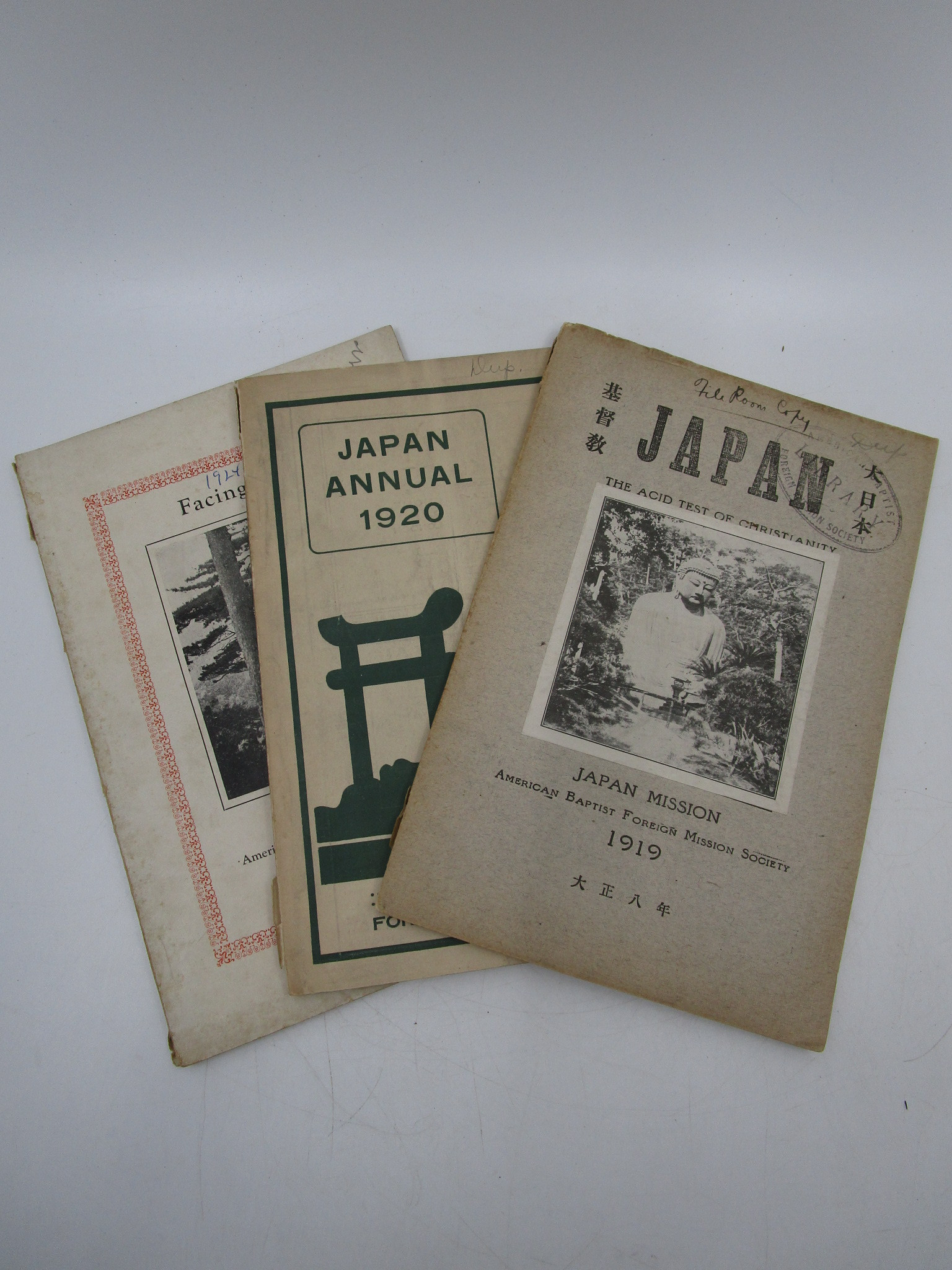 Image for The Japan Baptist Annual for 1919, 1920, 1925 & 1926 (3 Booklets)