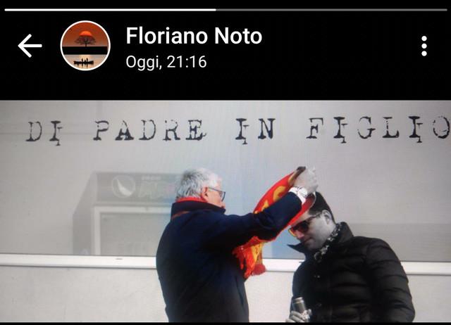 il presidente Floriano Noto con il figlio Pietro Andrea