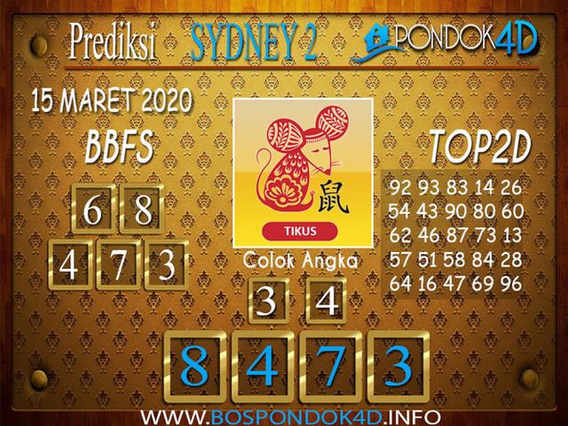 Prediksi Togel SYDNEY 2 PONDOK4D 15 MARET 2020