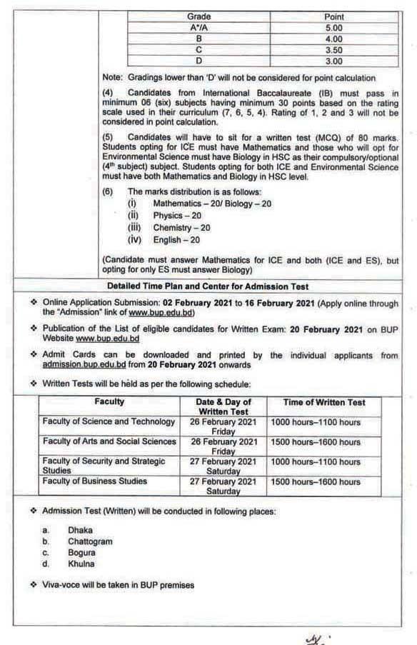 BUP Admission Result 2021- www.bup.edu.bd Result PDF 4