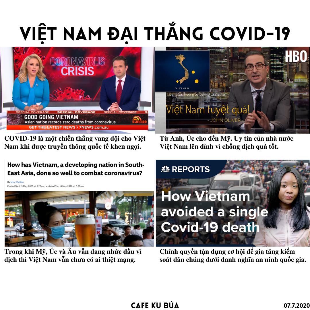 COVID-19 LÀ CHIẾN THẮNG CHO ĐỘC TÀI VIỆT NAM
