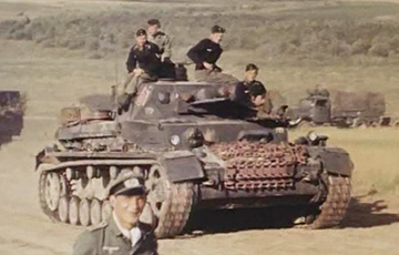 """Tank Pz.38 (t) of the Army Group """"Center"""" in Belarus"""
